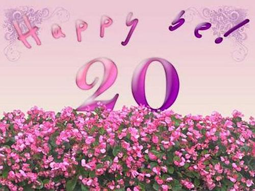 Поздравления на 20 летие подруге
